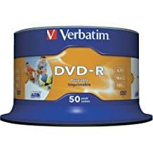 Verbatim Vírgenes  DVD-R AZO 4.7GB Wide Inkjet Printable ID Brand 16x