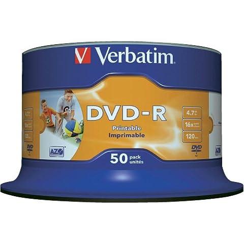 Verbatim 4.7GB DVD-R AZO Wide Inkjet Printable ID Brand 16x