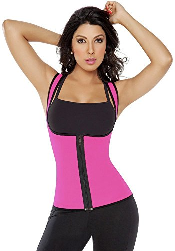 Fletion Athletic Outdoor Sport Ultra Sweat Fitness Tight Reversible Vest Cincher Waist Trainer Girdle Women Underbust Corset Shapewear Lady Body Corset Shaper Slimmer Exercise Slimming Bodysuit