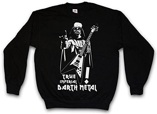 TRUE IMPERIAL DARTH METAL PULLOVER SWEATER SWEATSHIRT MAGLIONE - Star Dark Vader Wars Music Black Darkthrone Gothic Death Festival Taglie S - 5XL