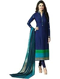 Special Mega Sale Festival Offer C&H Blue Crepe Designer Semi-Stitched Salwar Suits