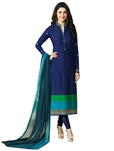 Special Mega Sale Festival Offer C&H Beautiful Designer Blue Crepe Salwar Suit