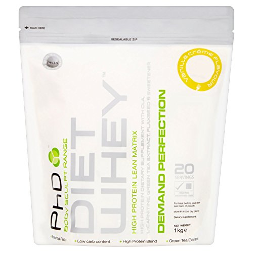 PhD Nutrition Diet Whey Protein Powder, 1 kg - Vanilla Creme Test
