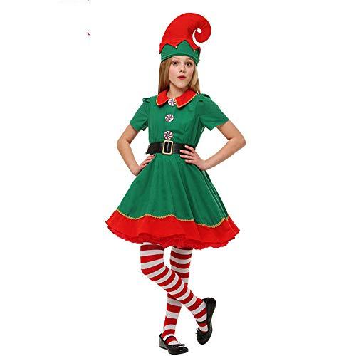 Elfen-Kostüm Weihnachtskostüm - Weihnachtself Kostüm für Damen, Tolle Zwergen oder Elfen Verkleidung für Damen und Herren ,Herren & Kinder - perfekt für Weihnachten, Karneval & - Exotische Santa Kostüm