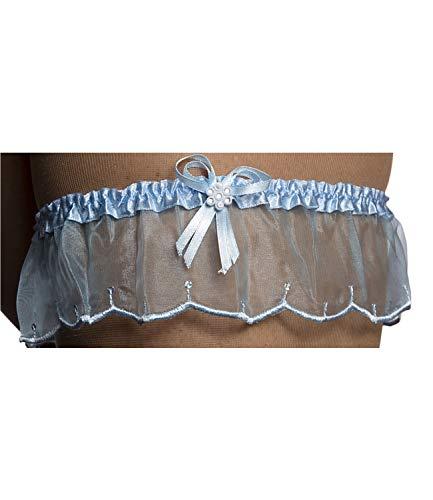 Brautkleid Dessous (Damen Strapsband Hochzeit Spitze Brautkleid Dessous Accessoires Blaues Weißes Rotes Modell 18 Blau Einheitsgröße)