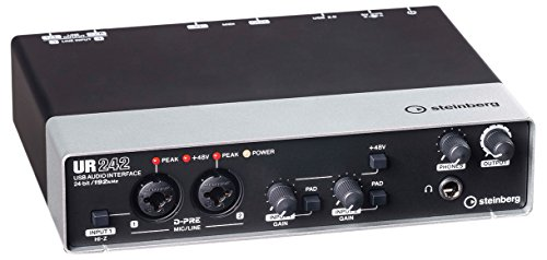 Steinberg UR242 EU USB-Audio-Interface (192 kHz, D-PRE) für iPad inkl. MIDI I/O
