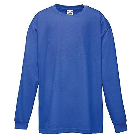 T-Shirt à manches longues unisexe Fruit Of The Loom pour enfant (5-6 ans) (Bleu royal)