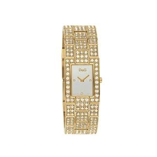 Dolce & Gabbana DW 0007 – Reloj de mujer de cuarzo con correa de acero inoxidable dorada