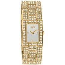 Dolce & Gabbana DW 0007 - Reloj de mujer de cuarzo con correa de acero inoxidable dorada