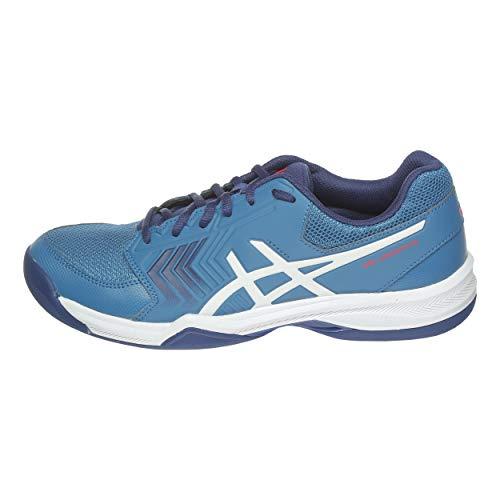 ASICS Herren Gel-Dedicate 5 Indoor Tennisschuhe, Blau (Azure/White 400), 44 EU