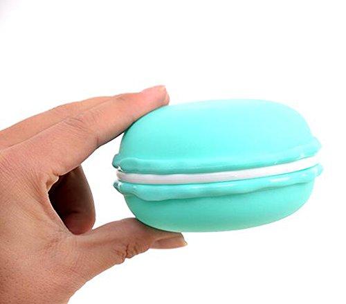 3 Pcs Macaron vides rechargeables Voyage Plastique Cosmétique conteneurs de échantillon bocaux Pot avec couvercle à vis Boîte de rangement bijoux