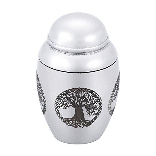 HooAMI acero inoxidable cremación joyas recuerdos Funeral Urns–Mini Memorial urna para cenizas crematorias para cenizas