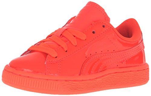 Puma Basket Classic Patent Ps Lackleder Sportliche Turnschuh Red Blast-Red Blast