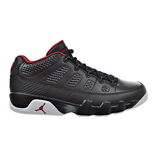 Nike Herren Air Jordan 9 Retro Low Basketballschuhe black/gym red-white