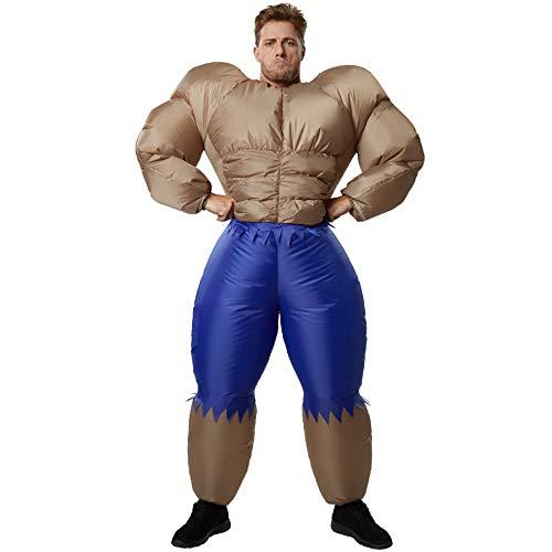 Muskel Body Kostüm - dressforfun 302361 - Aufblasbares Unisex Kostüm Bodybuilder, Perfektes Kostüm um die Muskeln Spielen zu Lassen