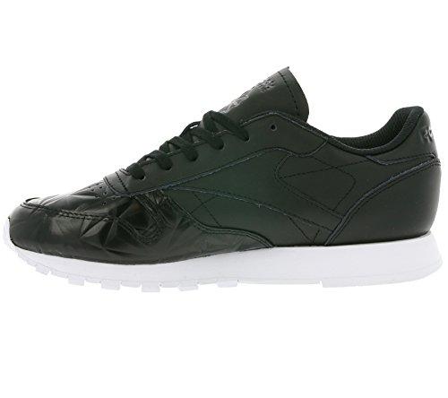 Reebok Classic Leather Hype Metallic Damen Sneaker Schwarz Schwarz