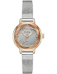 Reloj Femenino De Cuarzo Relojes Pulsera Mujer Matte Disk Relojes De Malla De Plata Digital Reloj