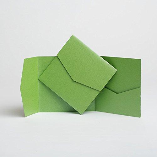 Pocketfold inviti, effetto perlato, colore: verde mela, 144 mm x 144 mm verde