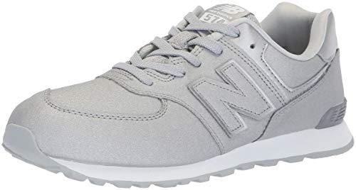 New Balance Unisex-Kinder 574v2 Sneaker, Silber Silver Ks, 36 EU