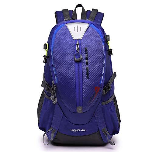Zaini da Trekking da 40L Outdoor Zaini da Trekking da Trekking, Impermeabile Leggero da Viaggio Daypack Resistente Resistenza allo Strappo Riflettente nel Bagaglio da Notte,Purple