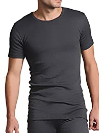 Heat Holders Short Sleeve Thermal Vest Charcoal Grey