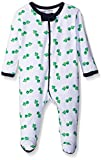 Luvable Friends Baby Boys' Happy Turtles Coverall - White, 3-6 Months