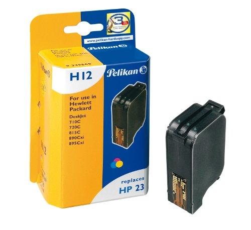 Pelikan 339669 – Cartucho de tinta HP DeskJet 890C, 710, 720C, 815C, 890CXI, 895 CXI – HP23 – TRICOLOR