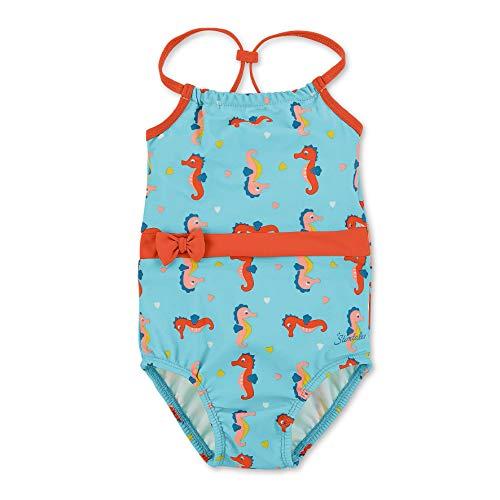 Sterntaler Kinder Mädchen Badeanzug mit Windeleinsatz, UV-Schutz 50+, Alter: 18-24 Monate, Größe: 92, Meeresblau (Mädchen Badeanzug Größe 24)