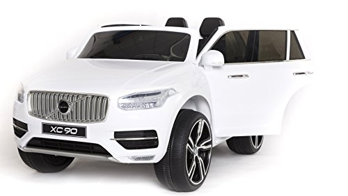 electric-ride-on-toy-car-volvo-xc90-white-24ghz-2-x-motor-remote-control-two-seats-in-leather-mp3-us