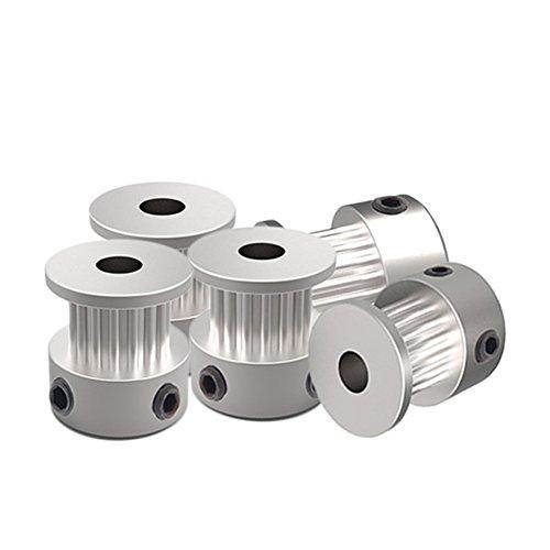 Ocamo 3D Drucker Antrieb Riemenscheiben 2gt-16gt-20Zähne Timing Riemenscheibe aus Aluminium Bohrung 2gt-16