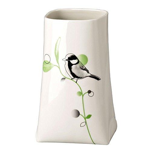 Hutschenreuther 02466-725584-26018 Green Garden Vase Kohlmeise, 18 cm