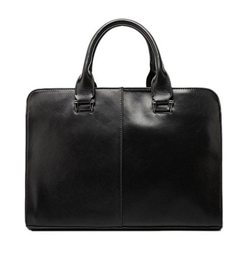 Herren Aktentasche Geschäfts Faux Leder Handtaschen Laptop Tasche Schulter Beutel