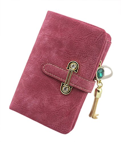 Portefeuille Courte PU Cuir Femme Carte Porte Monnaie Trifold Embrayage