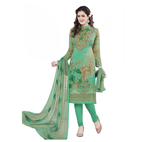 Parihar Collections Women'S Crepe Dress Material Dress Material (Mm1770_Green_Free Size)