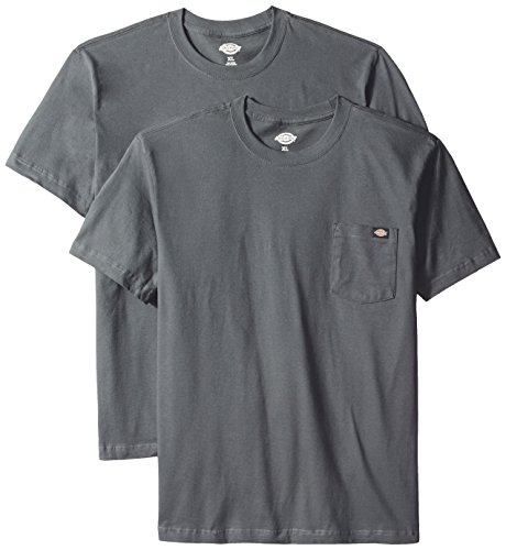 Dickies - - 1144624 2 Pack Pocket-T-Shirts Charcoal