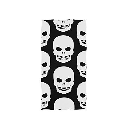 FANTAZIO Premium Baumwoll-Handtuch Schreck Heiligtüten Totenkopf Baumwolle Waschlappen