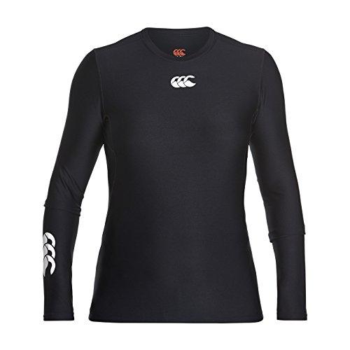 Canterbury Damen Thermoreg Base Layer Langarm-Unterhemd Oberteil, Schwarz, L - Canterbury Damen Rugby