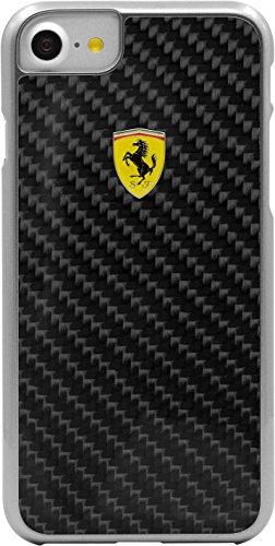 Ferrari Scuderia Genuine Carbon Hard Case für Apple iPhone 7/8, Black