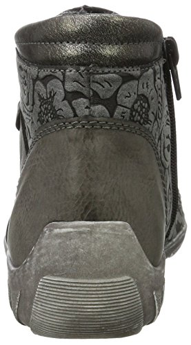 Remonte R3486, Sneaker a Collo Alto Donna Grigio (Fumo/asphalt/altsilber 45)