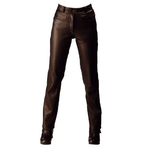 Perfekte Passform, Keine Taille Jeans (Roleff Racewear Lederhose, Größe: 42, Schwarz)