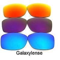 Verres De Rechange Pour Oakley Jupiter Squared bleu & mauve & rouge polarisé 3Pair