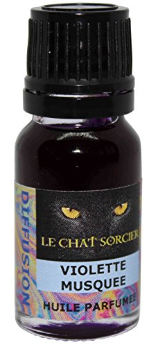 Le Chat Sorcier - Huile Parfumée - Violette Musquée (10ml avec compte-gouttes)