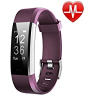 LETSCOM Fitness Tracker HR, Activity Tracker Watch Heart Rate Monitor, Waterproof Smart Fitness Band Step Counter, Calorie Counter, Pedometer Watch Kids Women Men
