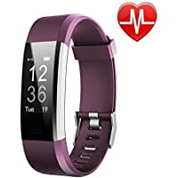 LETSCOM Fitness Tracker HR, Activity Tracker Watch Heart Rate Monitor, Waterproof Smart Fitness Band Step Counter, Calorie Counter, Pedometer Watch Kids Women Men
