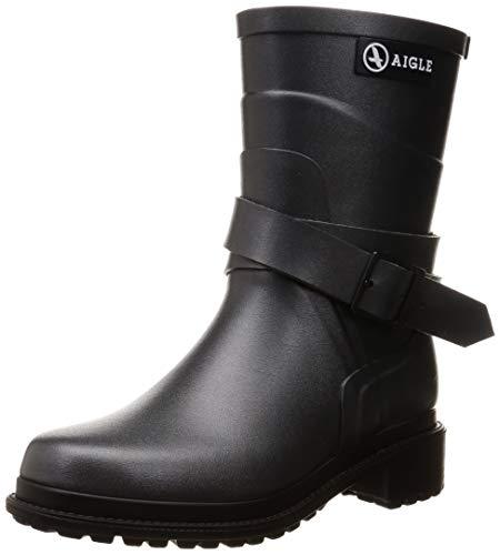 Aigle Damen Macadames Mid Gummistiefel, Grau (METALLIC), 41 EU Double Strap Ankle Boot