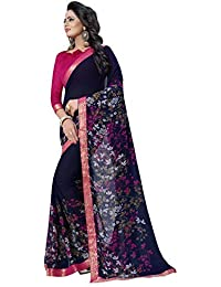 5100b80eafd Chiffon Women s Sarees  Buy Chiffon Women s Sarees online at best prices in  India - Amazon.in