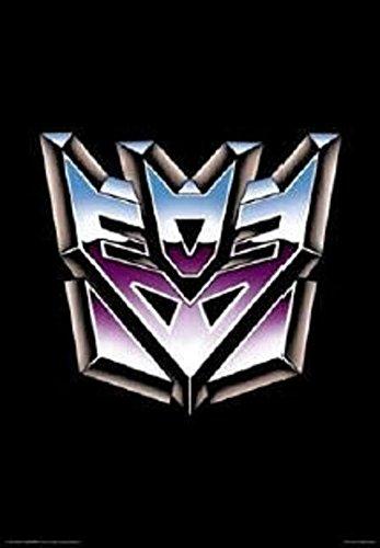 Transformers-Decepticon Logo Poster 61x 91,4cm (Vintage Spielzeug Optimus Prime)