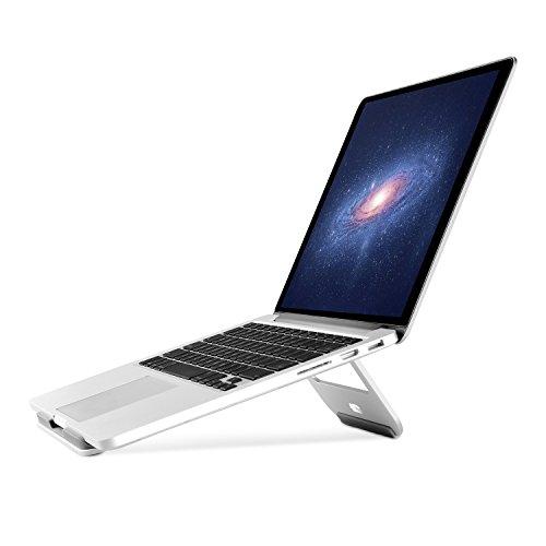 Aluminum Laptop Stand, Jokitech Leichtes Aluminium Tragbares Laptop Stand für MacBook, MacBook Pro, Microsoft Surface Pro und mehr  (Silber) (Chromebook Stand)