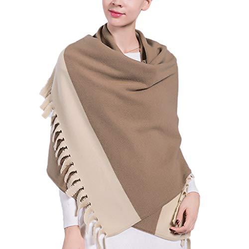 Wxl sciarpa impunture colore rettangolo addensare multifunzione invernale tenere scialle caldo 190 × 65 cm v (colore : cammello)