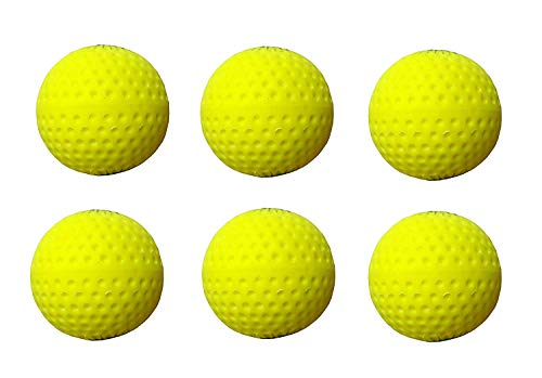 Ankaro Flasho Color Pu Professional Hockey,Dimple Cricket Bowling Machines Ball,Full Bounce (Pack of 6 Color AS PER Stock)